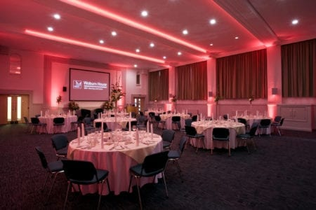 Versatile spacious corporate event meeting