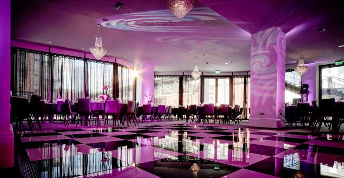 Canalside Birmingham Interior with Dancefloor