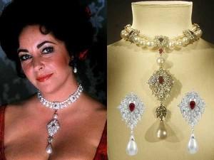 Elizabeth-Taylors-La-Peregrina-Pearl-jewelry-set