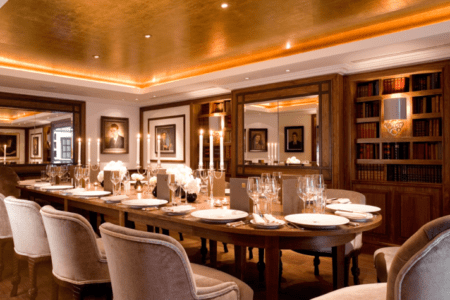 Library traditional elegant private dinner