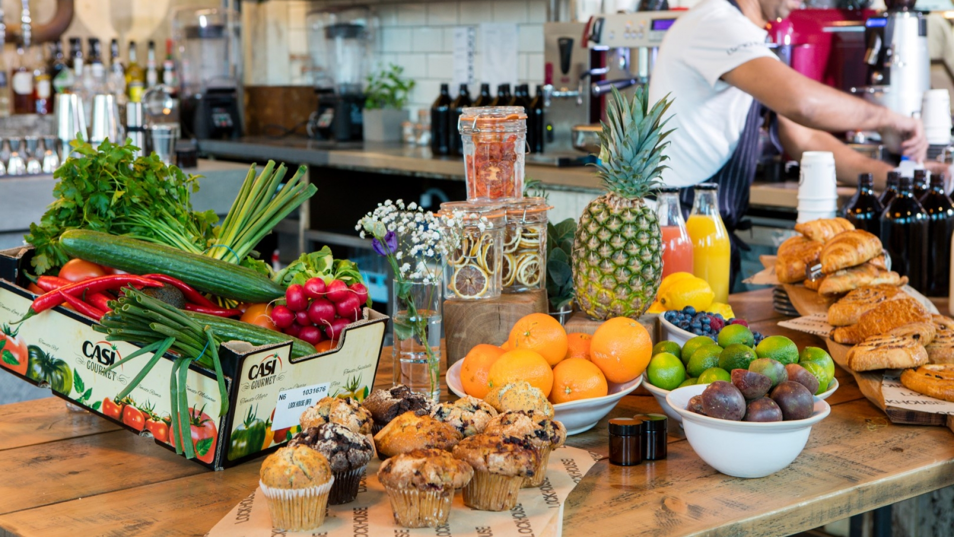 fresh produce at lockhouse