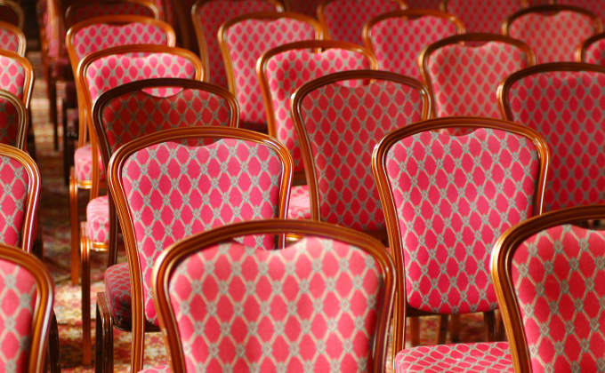 Luxury chairs set up for conferences