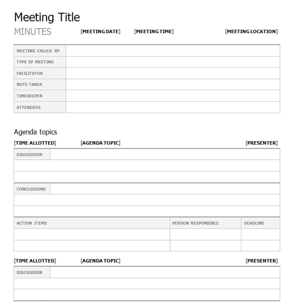 Effective Meeting Planning And Minute Taking
