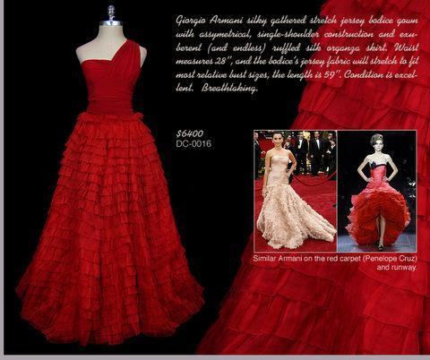 Red Vintage Giorgio Armani Gown Michelle