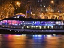 The Yacht London at Night (View from Southbank)