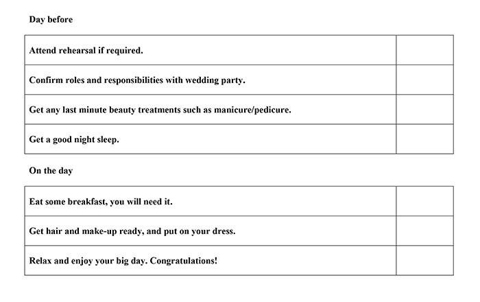 Wedding Day Checklist.Wedding Planning Checklist Function Fixers