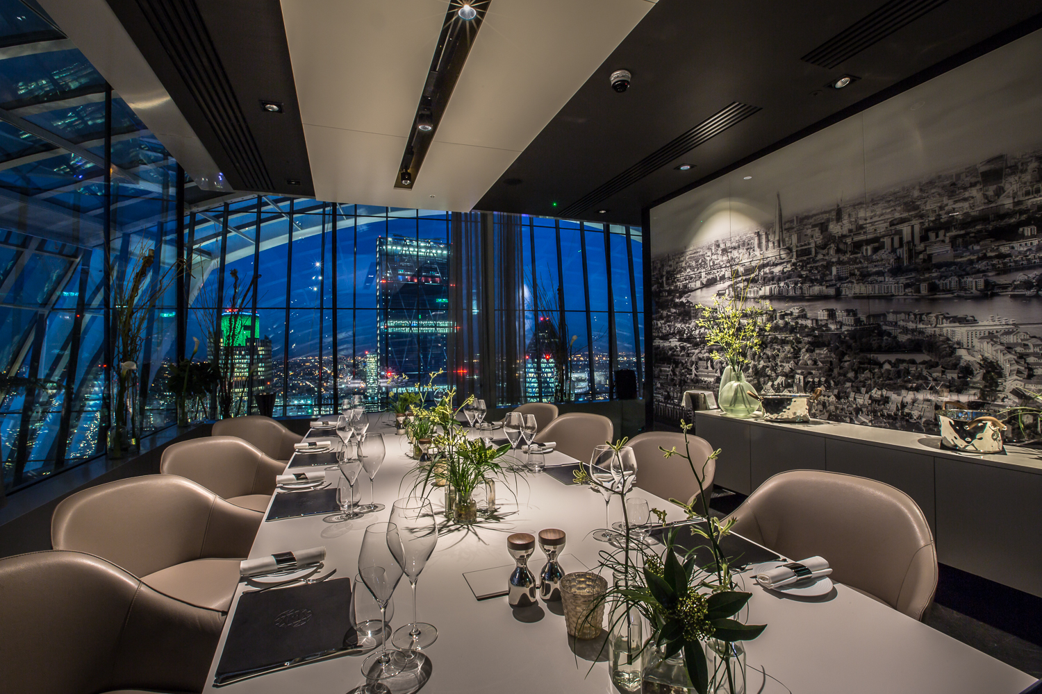 The sky garden london function fixers for Best private dining rooms city of london